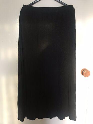 Юбка HM летнее вискоза темно серая длина макси размер s