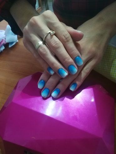 Наращивание ногтей-800 сом Маникюр+гель в Бишкек
