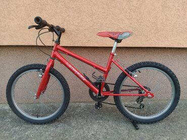 """Sport i hobi - Valjevo: Deciji bicikl 20"""" crvena 5 brzinaDeciji bicikl crveni. Bicikla ima 5"""