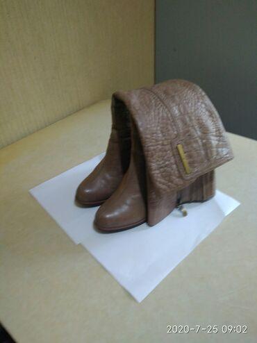 Продаю женские сапоги еврозима. Б/у. Размер 40. Каблук 7,5 см