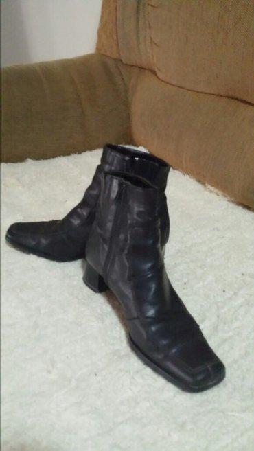 kožne polovne čizme, bez oštećenja, 36 veličina  - Velika Plana