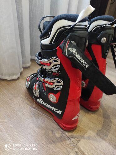 Лыжи - Беловодское: Горнолыжные ботинки Nordica состояние хорошее 4 клипсы жёсткость 90