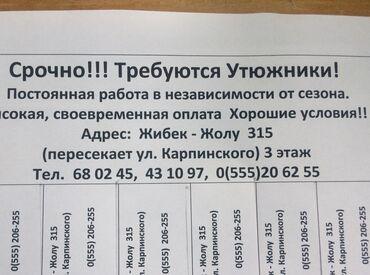 Утюжники - Кыргызстан: Утюжник. 3-5 лет опыта. Карпинка