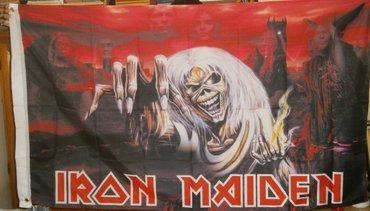 Zastava iron maiden poznatog heavy metal benda,, nova, dimenzija - Beograd