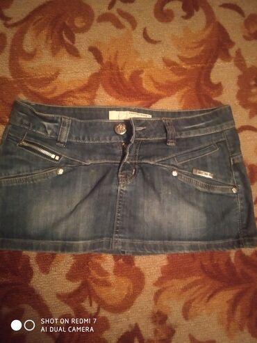 Джинсовая юбочка коротенькая