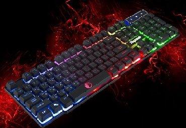 Клавиатура. Новая с подсветкой трёх цветов. Разные режимы светимости