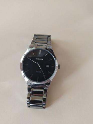 """Серебристые часы """"Curren"""" ( кварцевые )Показывает дату В отличном"""