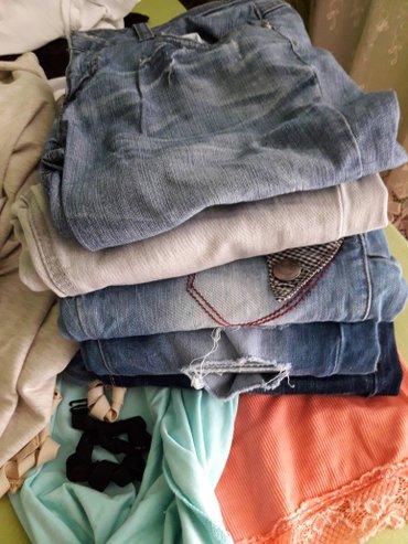 Pantalone-farmerice-br - Srbija: Farmerice 27 br. Sve su kao nove. 4 para dugackih pantalona i jedne