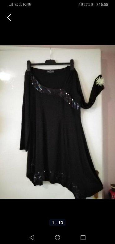 Haljina za krupnije dame, crna