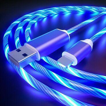 iphone 5 c в Азербайджан: IPhone, type c işıqlı magnetic USB kabel