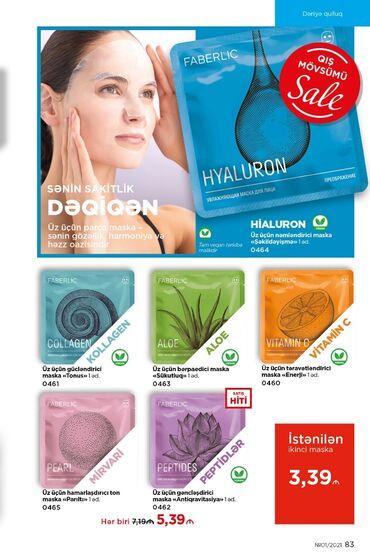 Bezekli maskalar - Azərbaycan: Uz ucun parca maskalar her biri 3.39 azn
