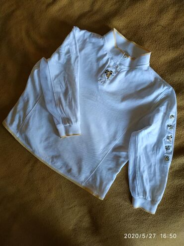 Рубашка (кофта, батник) трикотаж хлопок, для девочки подростка 10-14