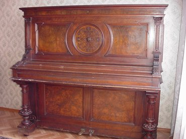 Музыкальные инструменты - Кыргызстан: Пианино. Немецкое. Антиквар. Рабочее. Слоновая кость. Резьба.  В Бишке