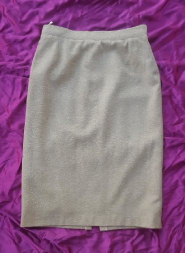 Bež midi suknja, vel. 40/42. Deo je kompleta. Made in Jugoslavija - Jagodina