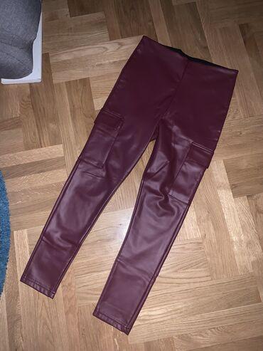 Ženske pantalone - Srbija: Kožne bordo pantalone