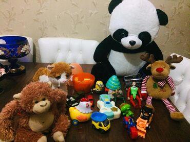 meymun - Azərbaycan: Bütün bu oyunvaqlar cemi 25m panda böyük 60 sm,sesli meymun,şirin