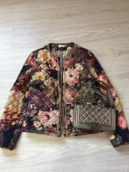 женские леггинсы со вставками в Азербайджан: Куртка жакет утеплена красивая расцветка подходит со всем размер L