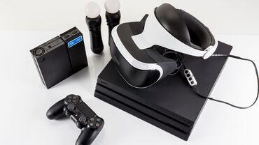 сколько стоит playstation 4 in Кыргызстан   PS4 (SONY PLAYSTATION 4): Состояние как новое Продаю пс 4 про виар шлем два мува руль оригинал