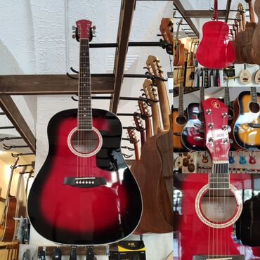 gitara akustik - Azərbaycan: Akustik gitaraRivertone LD18Üst: Şam ağacıQol: Gül ağacıÇanta