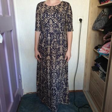 коричневое платье в пол в Кыргызстан: Платье в пол, очень красивое, теплое. Ткань плотная. Размер 44. Цена