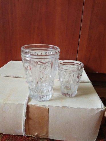 чешская хрусталь в Кыргызстан: Набор стаканов с рюмками хрусталь 12 шт общее количество 24 шт