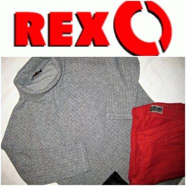 *** ReXo *** duks majca M print riblja kost  Duks brenda ReXo. - Beograd