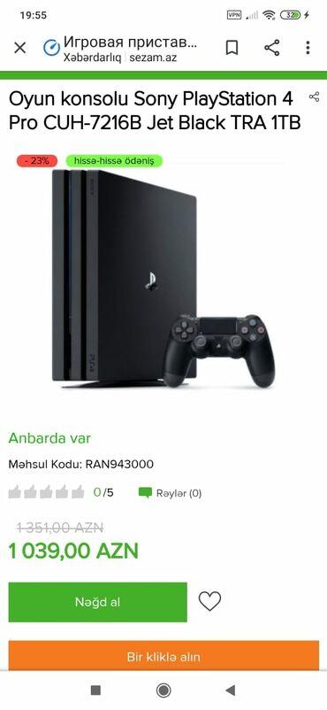 PS4 (Sony Playstation 4) - Azərbaycan: Tek wexsiyyet vesiqesiyle kridit verilir zaminsiz arayiwsiz kirayede