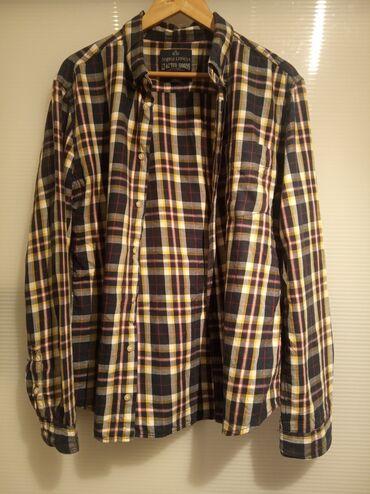 Angelo Litrico karirana košulja xl veličina, slim fit model, materijal