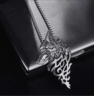 Кулон «Волчья харизма». Красивый дизайн.Нержавеющая сталь .⠀Волк —