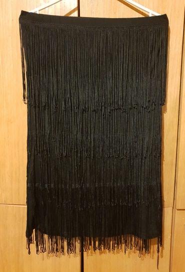 Crna suknja sa resama,moze da se nosi i kao top haljinica,jako lepo - Krusevac