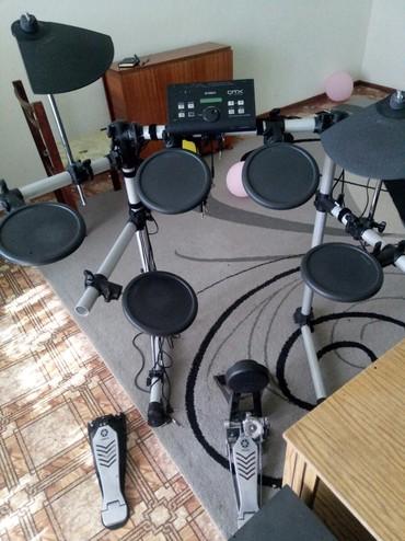 барабаны-рок в Кыргызстан: Продаю электронные барабаны YAMAHA DTX500! однозонные, есть MiDi