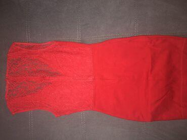 Crvena mini zara xs haljina