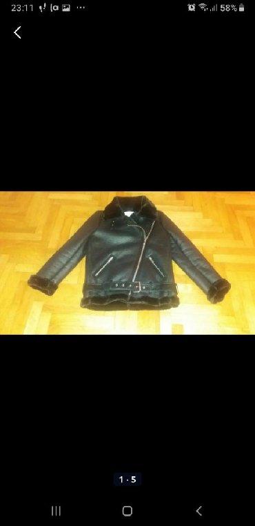 Zimske jakne modeli - Srbija: Ženska zimska kožna jakna Zara,naložena,topla i moderna. Veličina