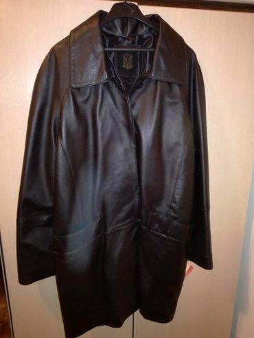 Zenska kozna jakna za punije dame,izuzetno kvalitetna, duzina 100, - Crvenka