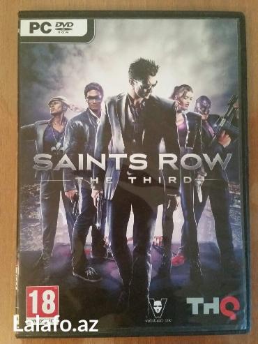 Bakı şəhərində Personal Kompüter üçün oyun diski. Təzədir. Saints Row. Super oyundur.
