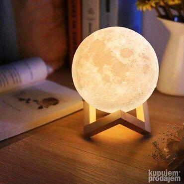 Torba pre meseca - Srbija: 3d meseceva lampa + sa postoljem    mesečeva svetlost na dodir ruke  a
