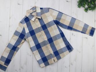 Детская рубашка в клетку H&M,на 9-10 лет Длина: 51 см Плечи: 29 см
