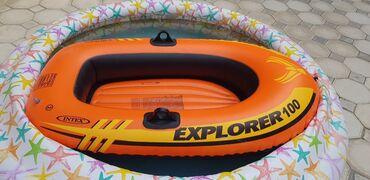 Su nəqliyyatı - Azərbaycan: Надувная лодка Intex Explorer 100.  Цена 30 манат