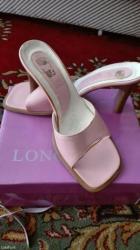 Papuce, nanule, na stiklicu, svetlo roze, broj 37, udobne, malo nosene - Nis