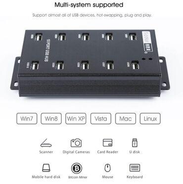358 объявлений | ЭЛЕКТРОНИКА: USB-HUB, SIPOLAR, LPSEN, A-300,10 порта High Speed USB 2.0
