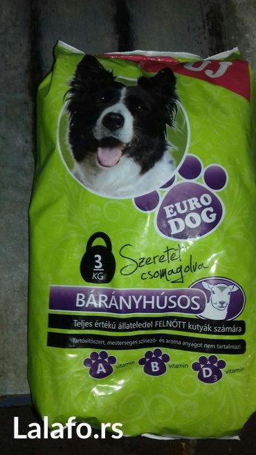Dostava hrane - Srbija: HRANA ZA PSE EURO DOG 3KG LICNO PREUZIMANJE ZRENJANIN ILI DOSTAVA NA
