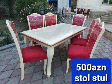 Stol və stullar Açılan masadf maşın kraskası ilə 90*1.60, 2.00 Stullar