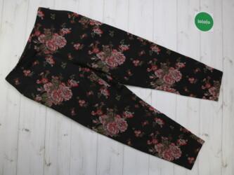 Женские штаны в цветочный принт от бренда F&F,р.M Длина: 100 см Дл