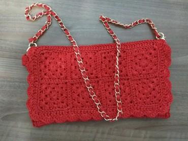 сумка клатч ручной работы в Кыргызстан: Сумочка клатч вязанная из атласных лент, ручная работа. Три