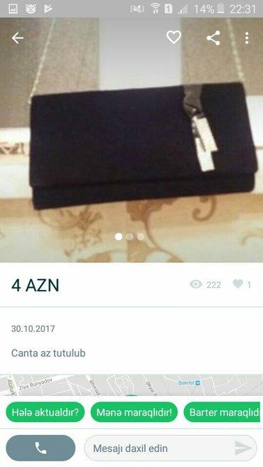 Bakı şəhərində Canta tezedi