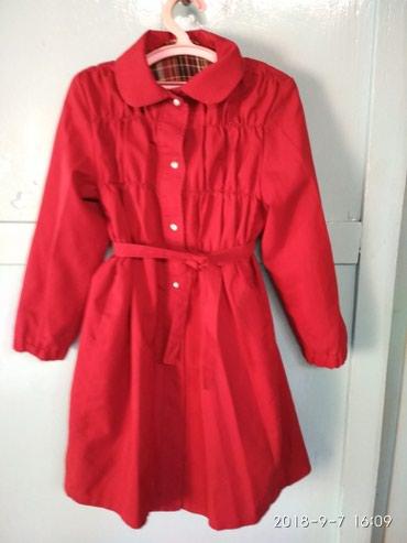 детская клетчатая рубашка в Кыргызстан: Плащ бордовый с клетчатым подкладом в отличном состоянии.Длина-73