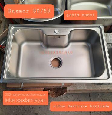 встраиваемая вытяжка для кухни в Азербайджан: Раковина | Для кухни | Нержавеющая сталь, Железо, Керамика | Китай, Турция