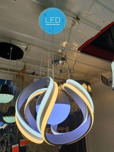 Светодиодная led люстра имеет три положения света высота регулируется