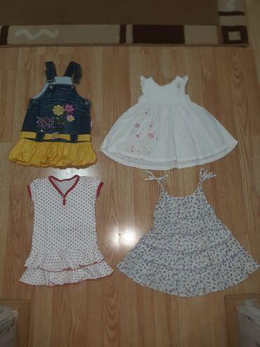 Paket od 4 haljinice sve su velicine 1  Cena se moze promeni;)