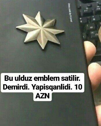 Bakı şəhərində Bu ulduz emblem satilir. Demirdi. Yapisqanlidi. 10 azn